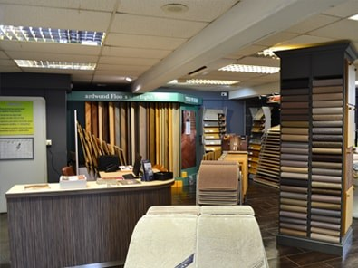 Carpet hardwood showroom